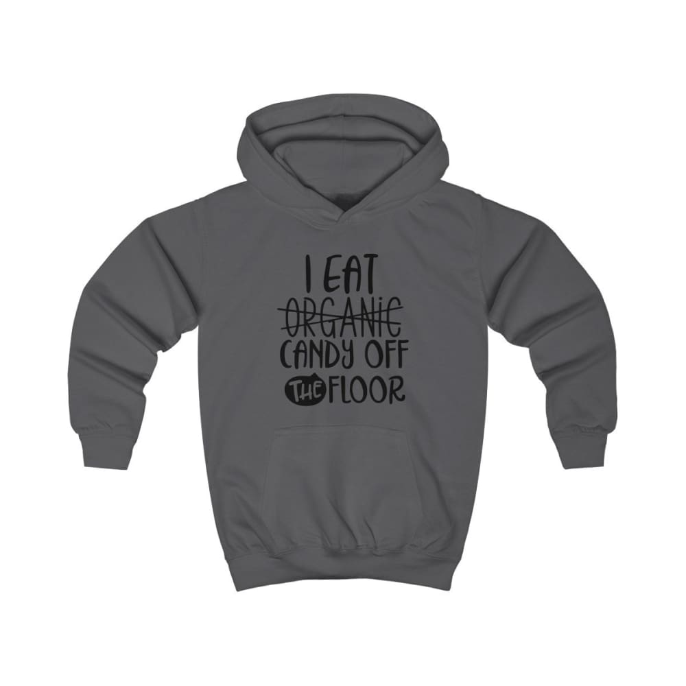 I eat Candy Off The Floor Kids Hoodie - Charcoal / XS - Kids clothes
