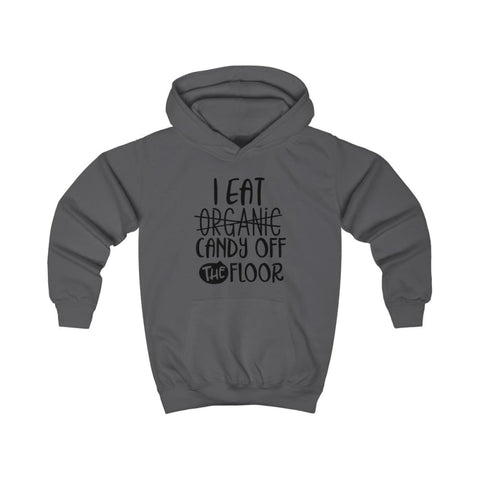 Image of I eat Candy Off The Floor Kids Hoodie - Charcoal / XS - Kids clothes