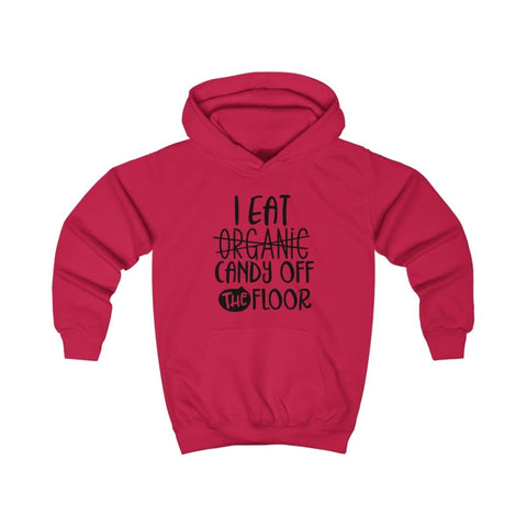 Image of I eat Candy Off The Floor Kids Hoodie - Fire Red / XS - Kids clothes
