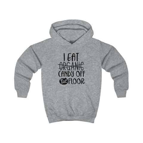 Image of I eat Candy Off The Floor Kids Hoodie - Heather Grey / XS - Kids clothes