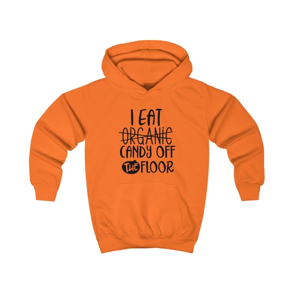 I eat Candy Off The Floor Kids Hoodie - Orange Crush / XS - Kids clothes
