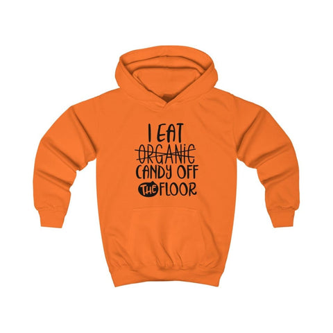 Image of I eat Candy Off The Floor Kids Hoodie - Orange Crush / XS - Kids clothes