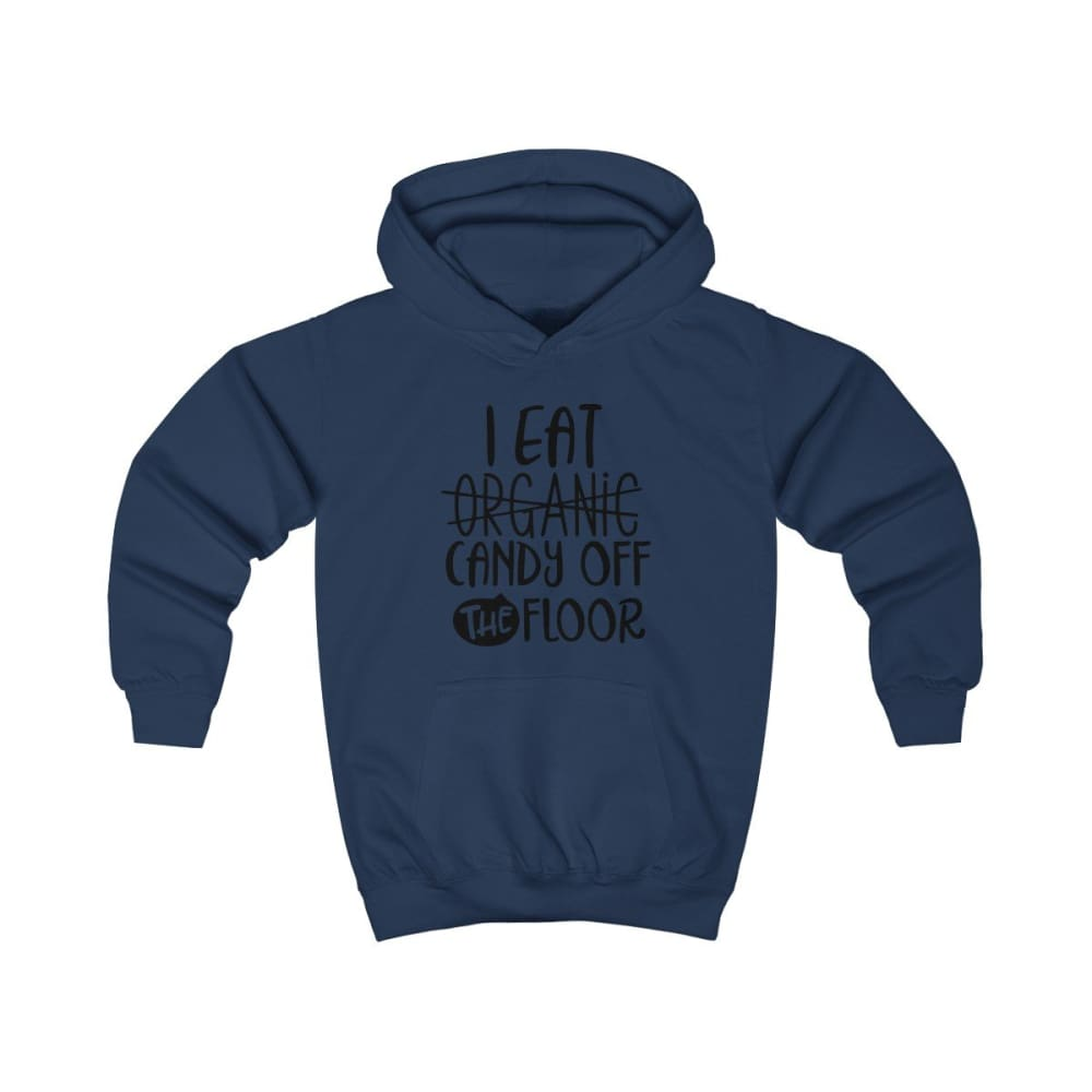 I eat Candy Off The Floor Kids Hoodie - Oxford Navy / XS - Kids clothes
