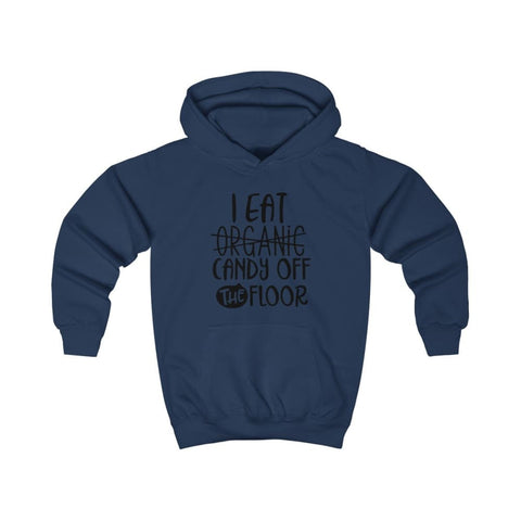 Image of I eat Candy Off The Floor Kids Hoodie - Oxford Navy / XS - Kids clothes