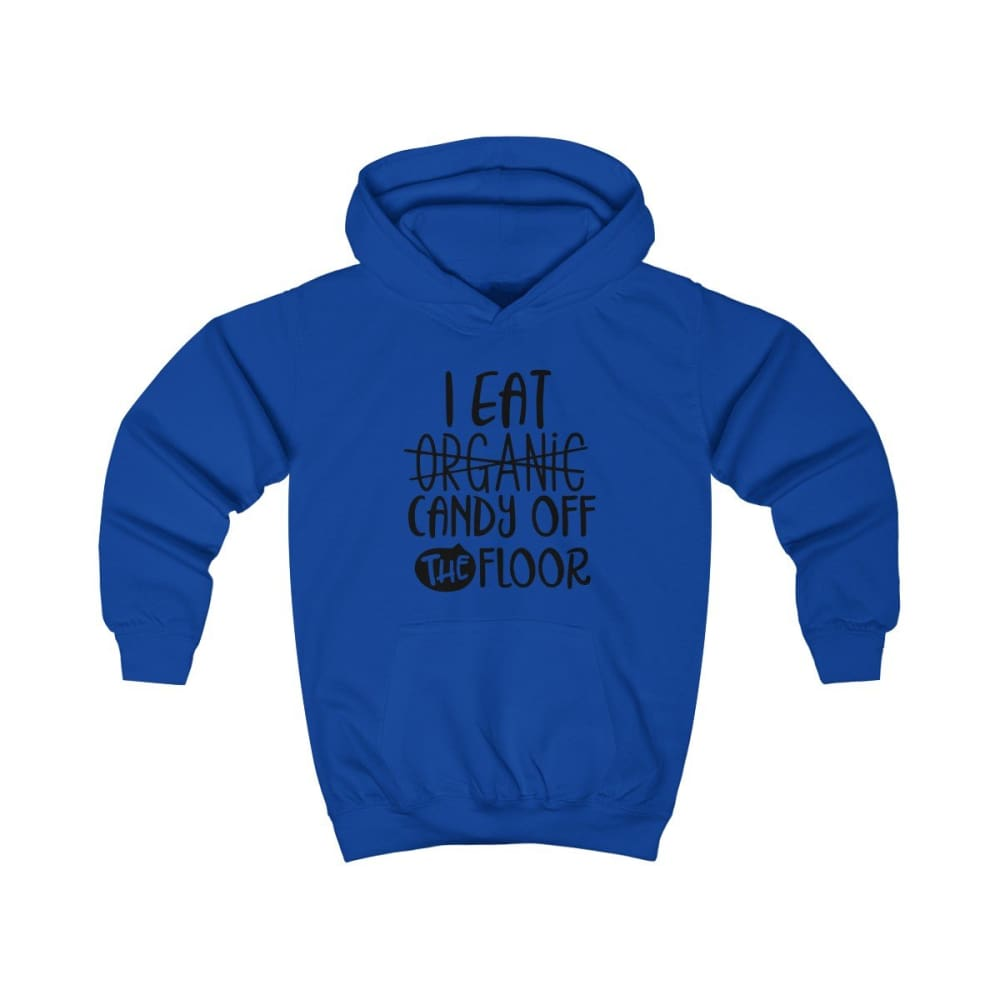 I eat Candy Off The Floor Kids Hoodie - Royal Blue / XS - Kids clothes