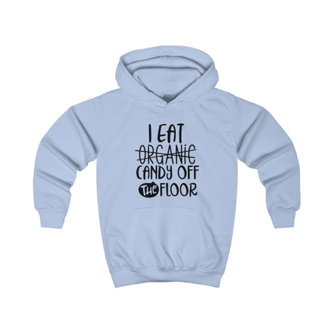 Image of I eat Candy Off The Floor Kids Hoodie - Sky Blue / XS - Kids clothes