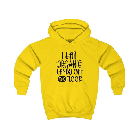 Image of I eat Candy Off The Floor Kids Hoodie - Sun Yellow / XS - Kids clothes