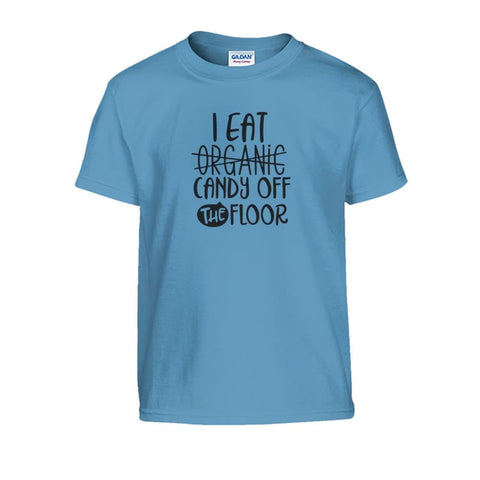 Image of I Eat Candy Off The Floor Kids Tee - Carolina Blue / S - Kids