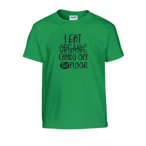 Image of I Eat Candy Off The Floor Kids Tee - Irish Green / S - Kids