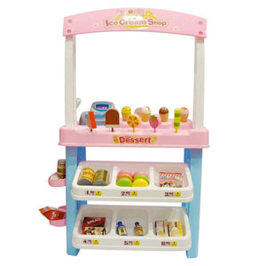 Ice Cream Shop 47 Piece Luxury Grocery Supermarket Pretend Playset (Pink)