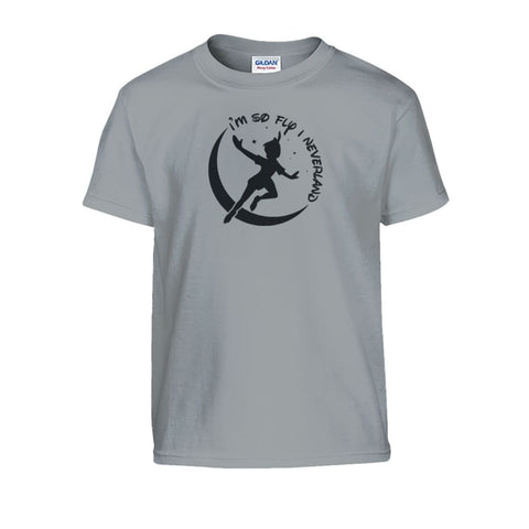 Image of Im So Fly I Neverland Kids Tee - Sport Grey / S - Kids