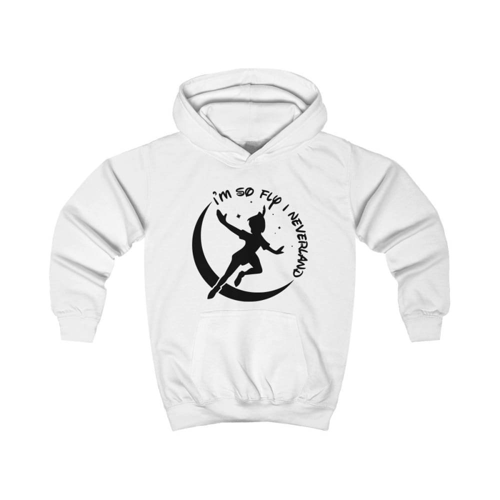 Im So Fly Kids Hoodie - Arctic White / XS - Kids clothes