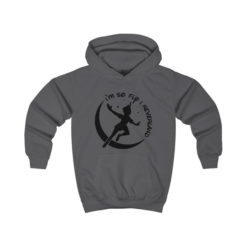 Im So Fly Kids Hoodie - Charcoal / XS - Kids clothes