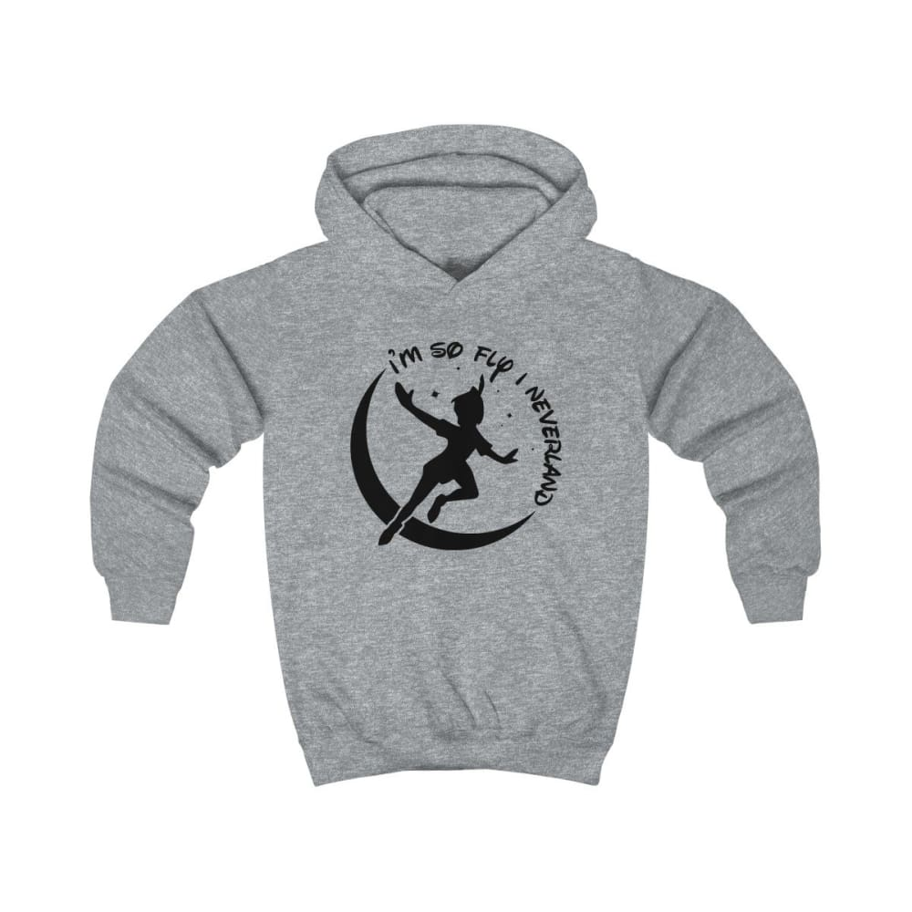Im So Fly Kids Hoodie - Heather Grey / XS - Kids clothes