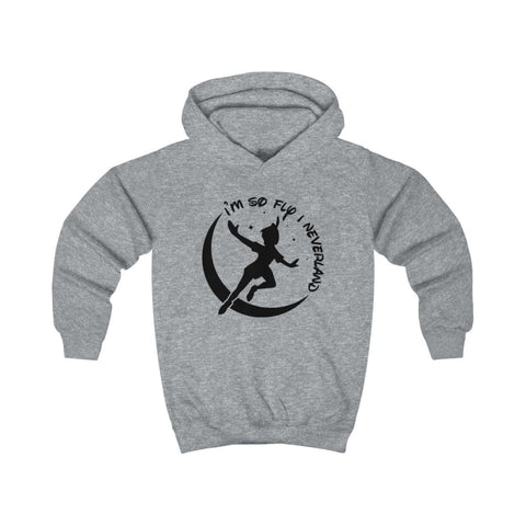 Image of Im So Fly Kids Hoodie - Heather Grey / XS - Kids clothes