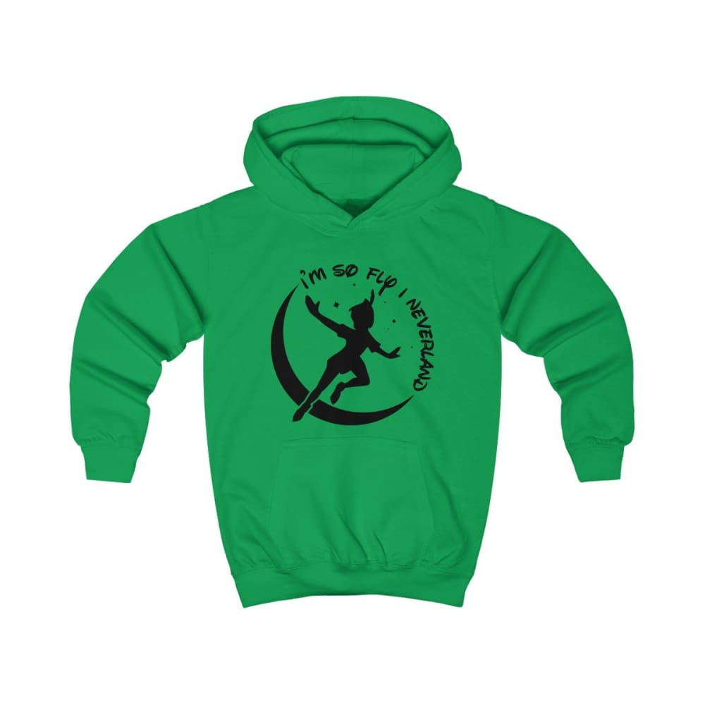 Im So Fly Kids Hoodie - Kelly Green / L - Kids clothes