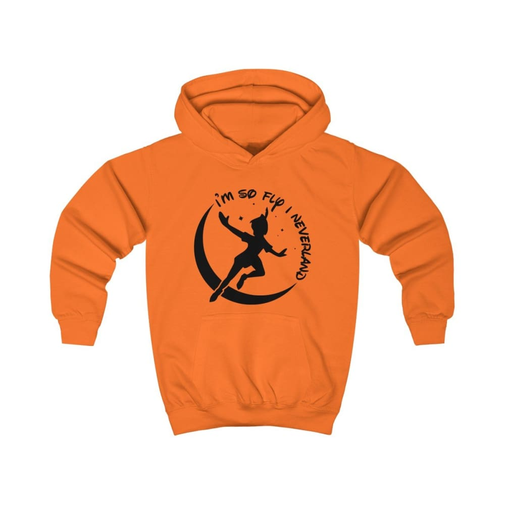 Im So Fly Kids Hoodie - Orange Crush / XS - Kids clothes