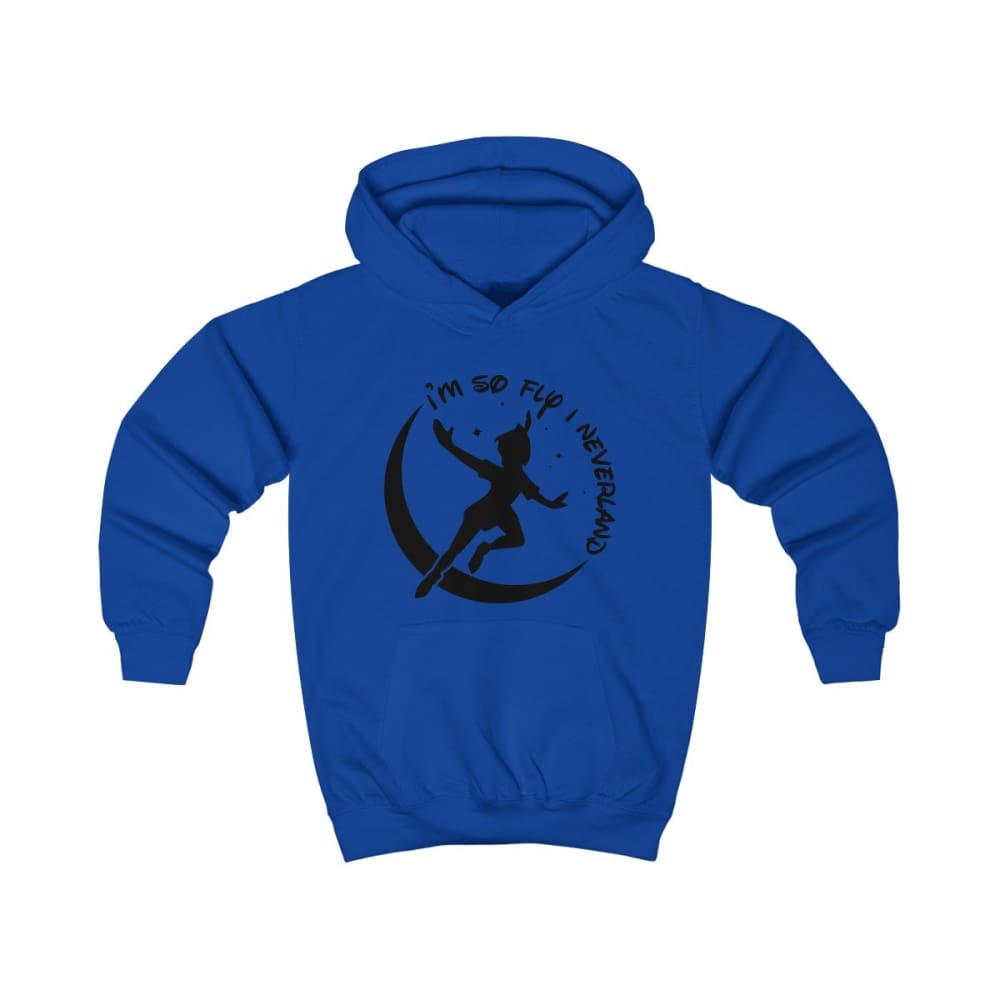 Im So Fly Kids Hoodie - Royal Blue / XS - Kids clothes