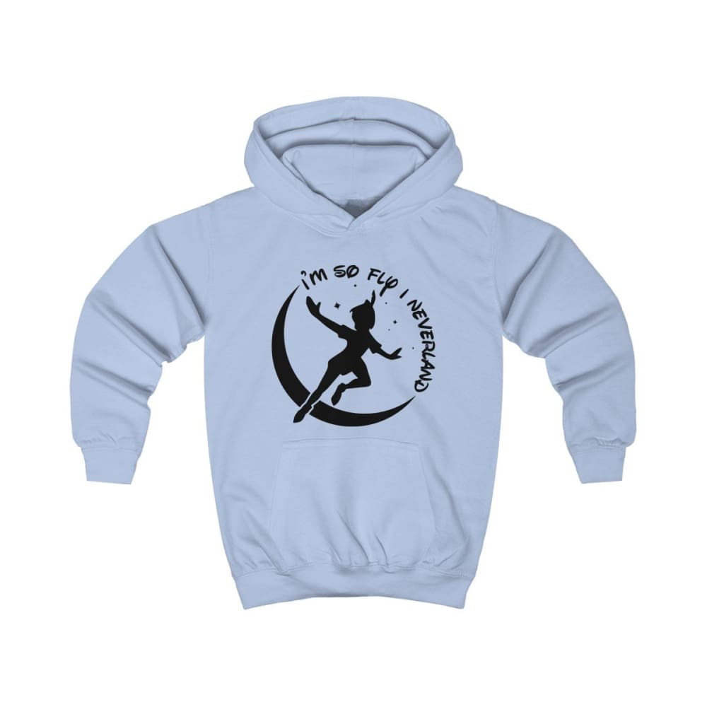Im So Fly Kids Hoodie - Sky Blue / XS - Kids clothes