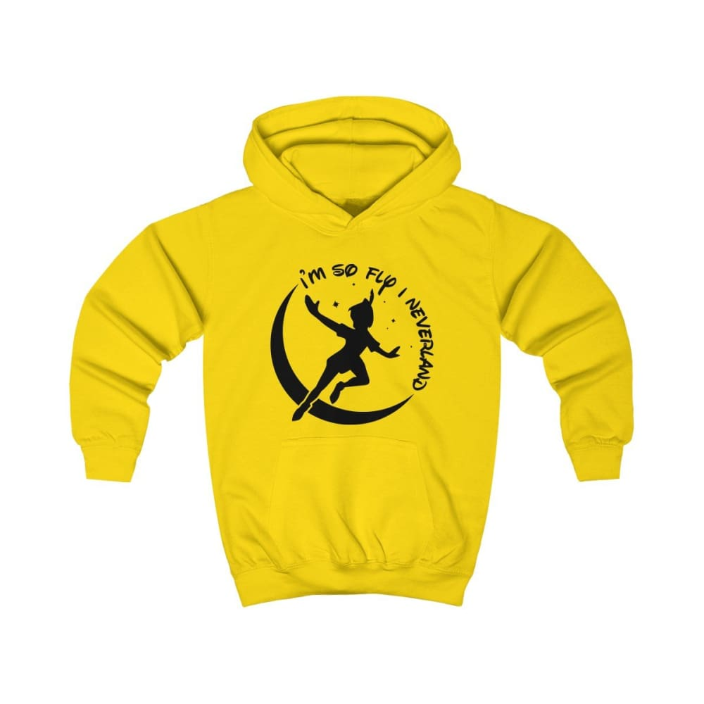 Im So Fly Kids Hoodie - Sun Yellow / XS - Kids clothes