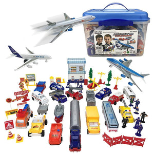 Kids Airport Playset 57-Piece