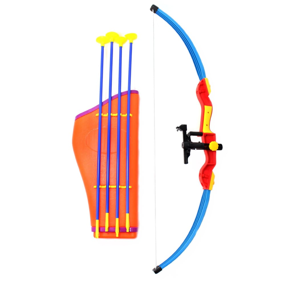 Kings Sport 32 Toy Archery Bow And Arrow Set For Kids - Four Suction Cup Arrows