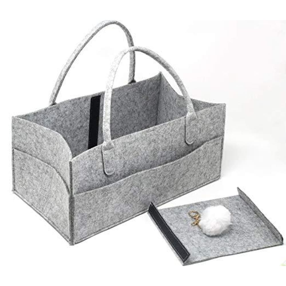 Large Felt Diaper Caddy