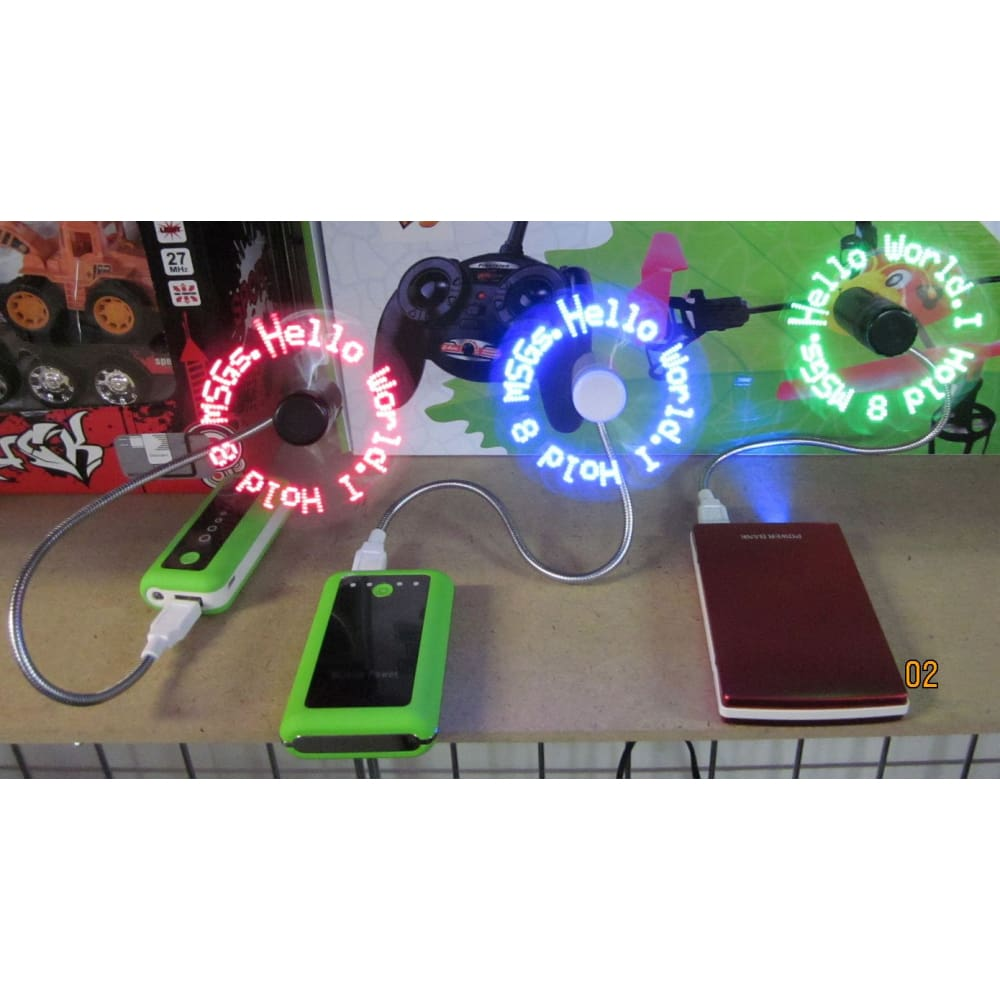 LED Fan (Red)