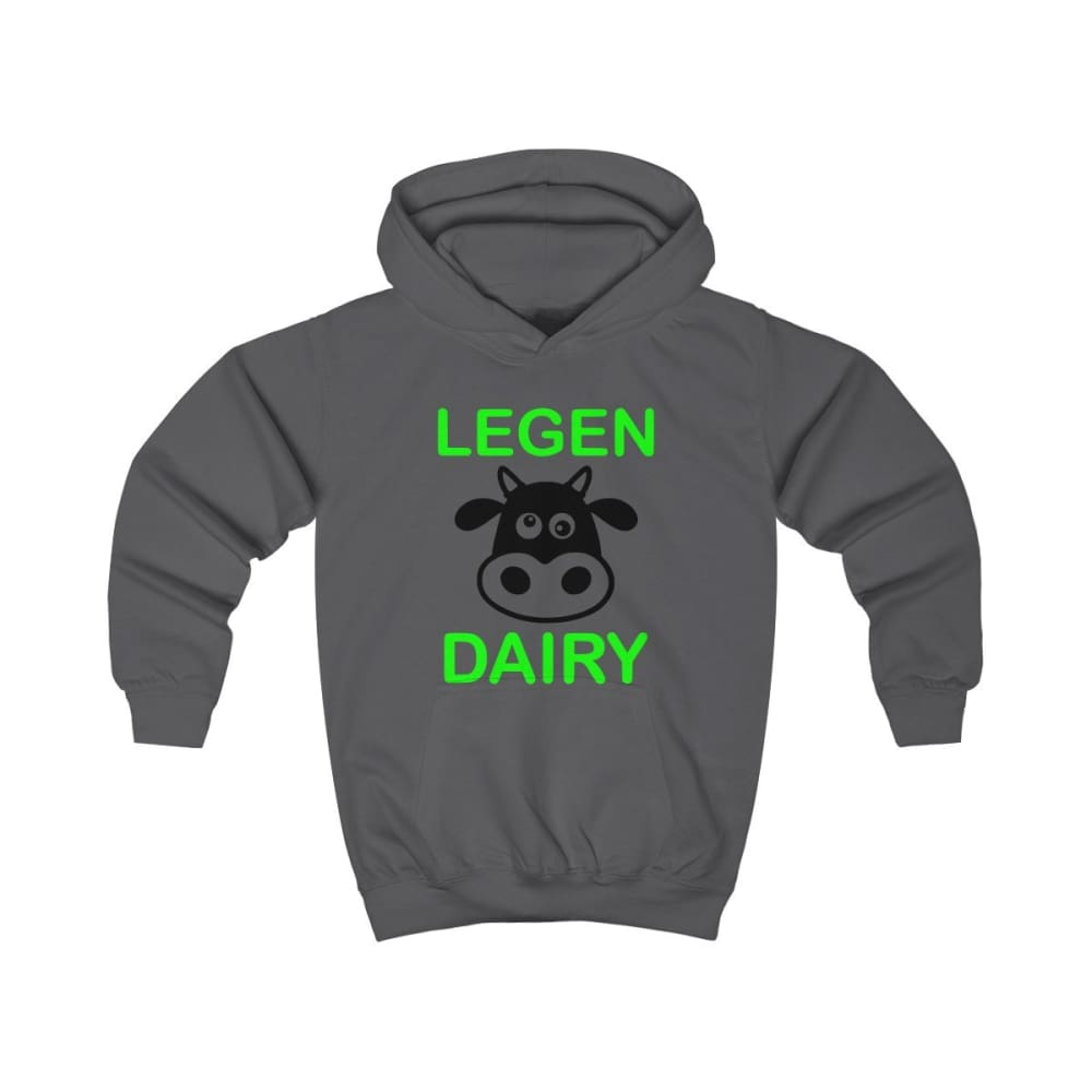 Legen Dairy Kids Hoodie - Charcoal / XS - Kids clothes