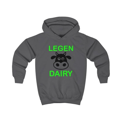 Image of Legen Dairy Kids Hoodie - Charcoal / XS - Kids clothes
