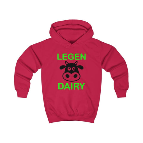 Image of Legen Dairy Kids Hoodie - Fire Red / L - Kids clothes