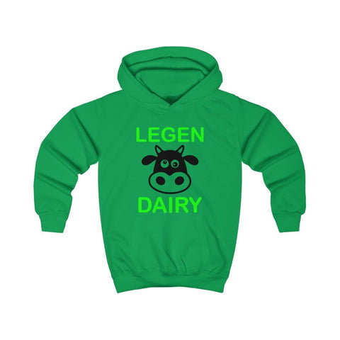 Image of Legen Dairy Kids Hoodie - Kelly Green / XS - Kids clothes