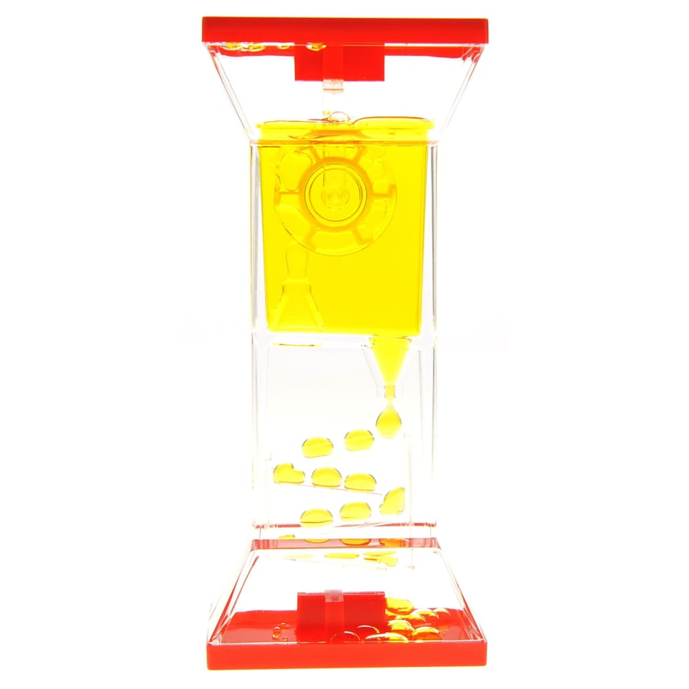 Liquid Motion Bubbler With One Wheel (Yellow)