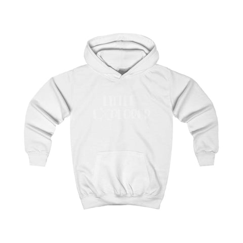 Image of Little Explorer Kids Hoodie - Arctic White / XS - Kids clothes