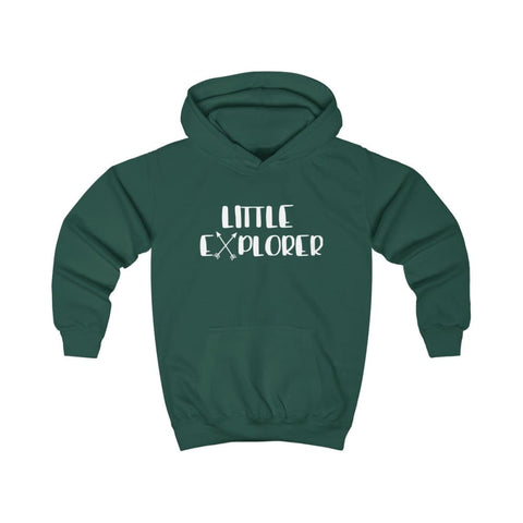 Image of Little Explorer Kids Hoodie - Bottle Green / XS - Kids clothes