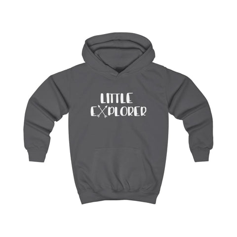 Little Explorer Kids Hoodie - Charcoal / XS - Kids clothes