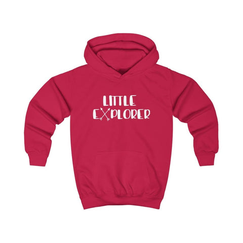 Little Explorer Kids Hoodie - Fire Red / XS - Kids clothes
