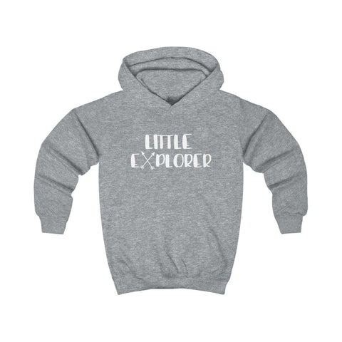 Image of Little Explorer Kids Hoodie - Heather Grey / XS - Kids clothes