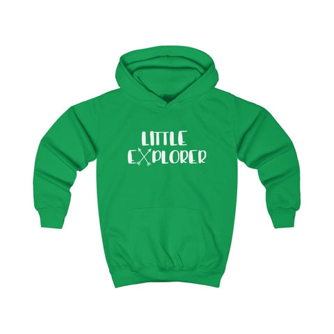 Little Explorer Kids Hoodie - Kelly Green / XS - Kids clothes
