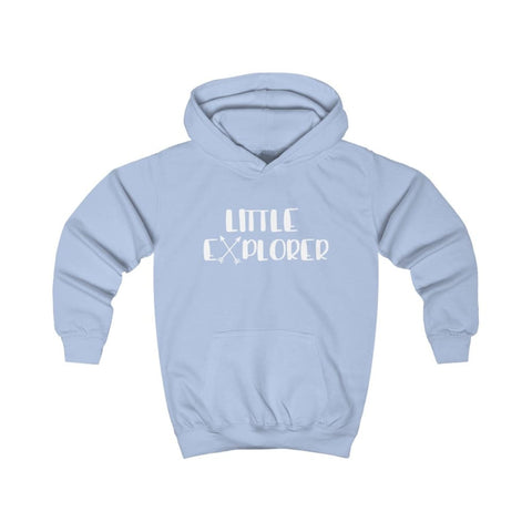 Image of Little Explorer Kids Hoodie - Sky Blue / XS - Kids clothes