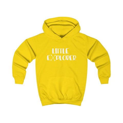 Image of Little Explorer Kids Hoodie - Sun Yellow / XS - Kids clothes