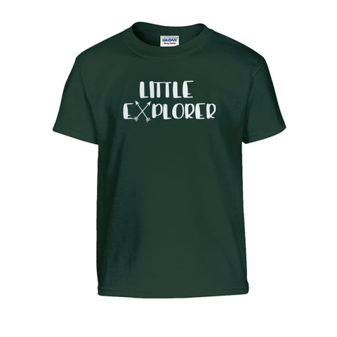 Image of Little Explorer Kids Tee - Forest Green / S - Kids