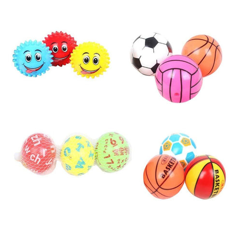 Lovely Baby Elastic Ball Cute Inflatable Basketball-soccer-colorful - Toy
