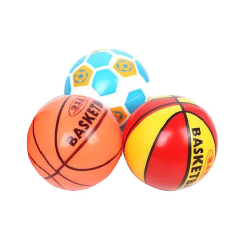 Image of Lovely Baby Elastic Ball Cute Inflatable Basketball-soccer-colorful - Toy