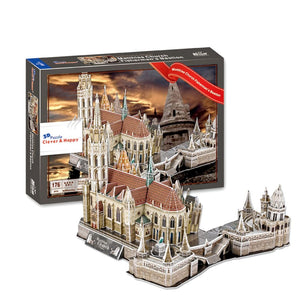 Matthias Church Fishermans Bastion 3D Puzzle 176 Pieces