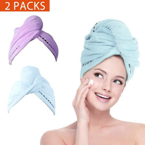 Microfiber Hair Towel Wraps 2pc - Bath and Beauty