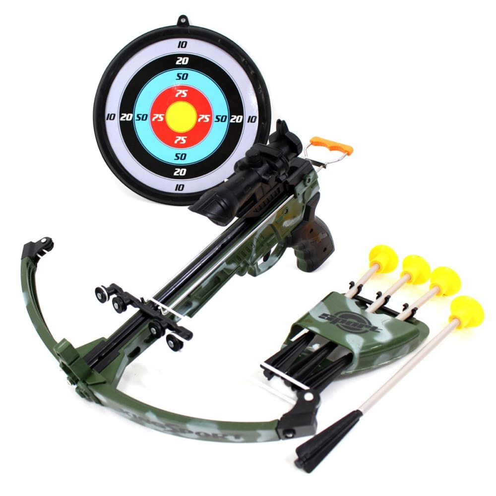 Military Toy Crossbow Set With Scope And Target