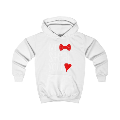 Mr. Steal Your Heart Kids Hoodie - Arctic White / XS - Kids clothes