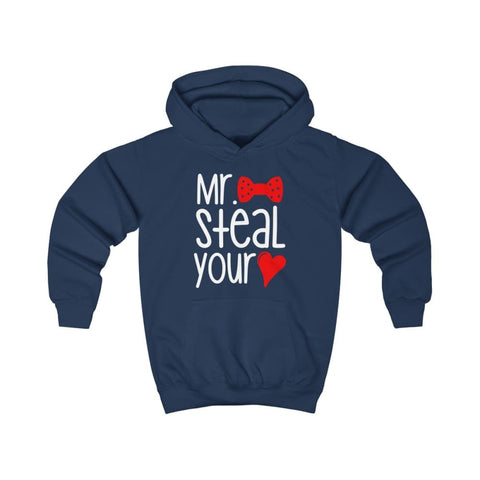 Mr. Steal Your Heart Kids Hoodie - Oxford Navy / XS - Kids clothes