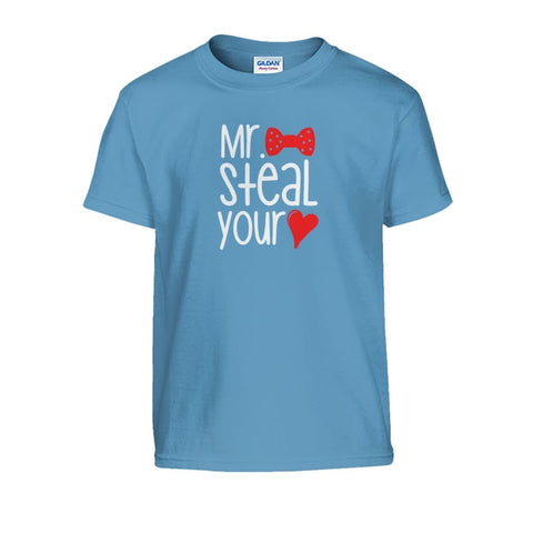 Image of Mr. Steal Your Heart Kids Tee - Carolina Blue / S - Kids